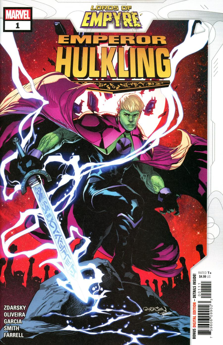 Lords Of Empyre Emperor Hulkling One Shot Cover A Regular Pat Gleason Cover