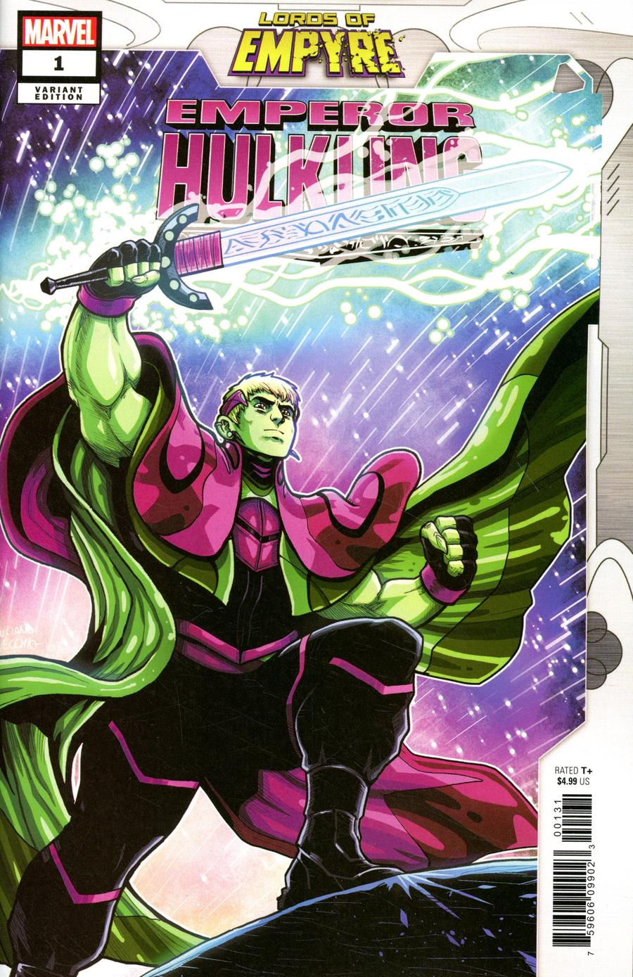 Lords Of Empyre Emperor Hulkling One Shot Cover B Variant Luciano Vecchio Cover