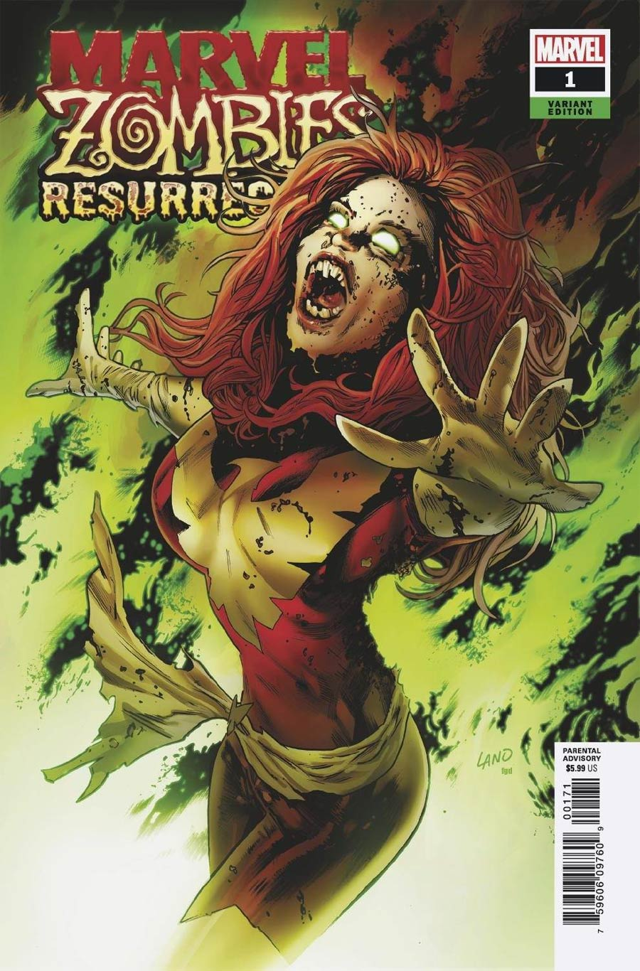 Marvel Zombies Resurrection #1 Cover E Variant Greg Land Cover