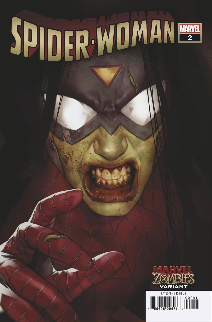 Spider-Woman Vol 7 #2 Cover B Variant Ben Oliver Marvel Zombies Cover