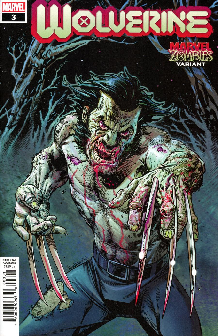 Wolverine Vol 7 #3 Cover B Variant Tom Raney Marvel Zombies Cover