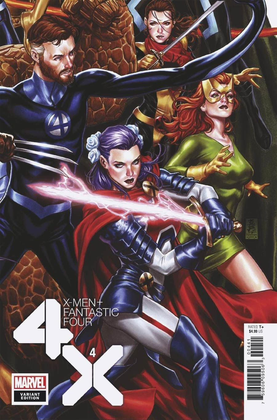X-Men Fantastic Four Vol 2 #4 Cover C Variant Mark Brooks Connecting Cover