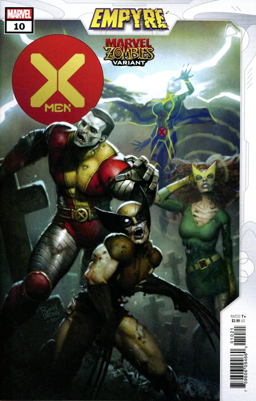 X-Men Vol 5 #10 Cover B Variant Ryan Brown Marvel Zombies Cover (Empyre Tie-In)
