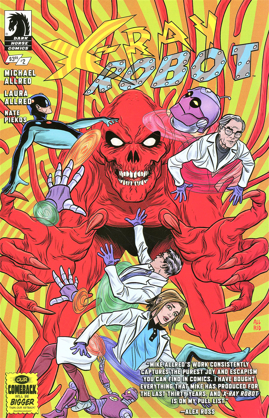 X-Ray Robot #2 Cover A Regular Michael Allred Cover