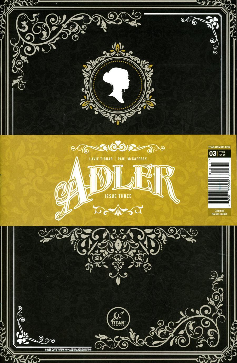 Adler #3 Cover C Variant Victorian Homage Cover