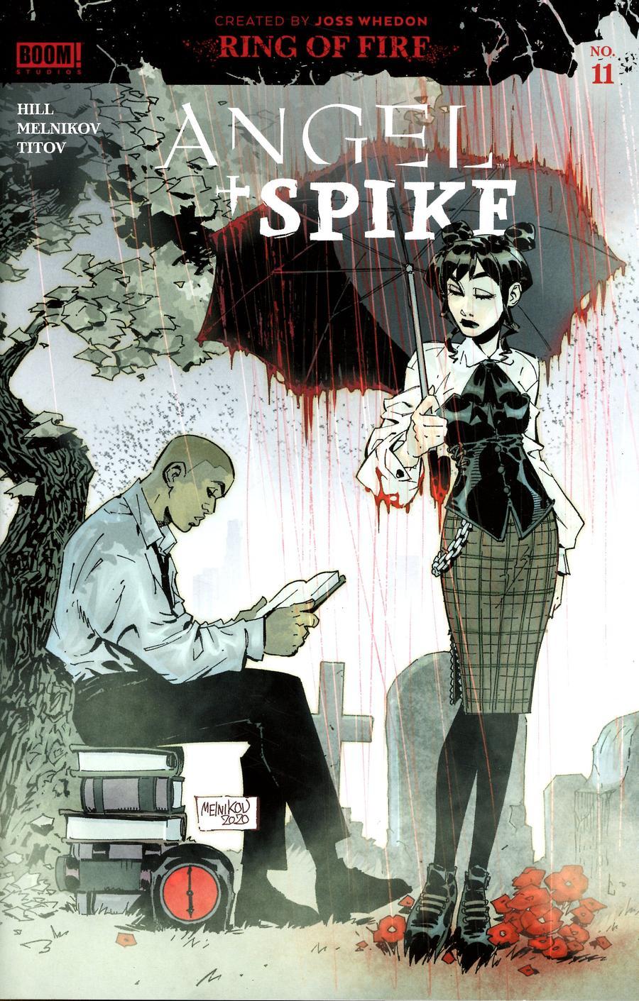 Angel & Spike #11 Cover B Variant Gleb Melnikov Spotlight Cover