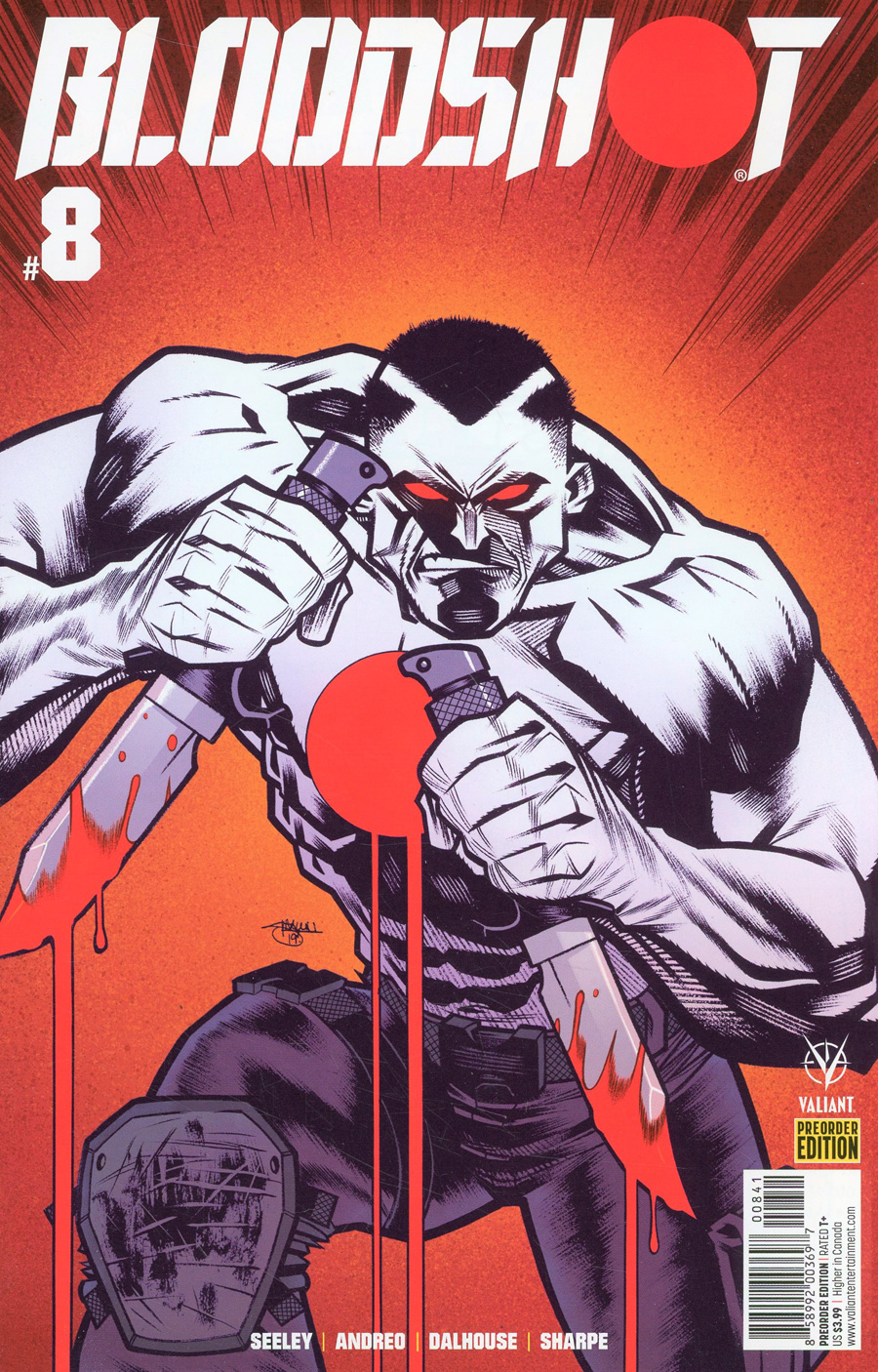 Bloodshot Vol 4 #8 Cover D Variant Pre-Order Edition