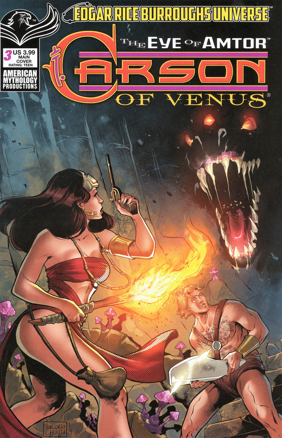 Carson Of Venus Eye Of Amtor #3 Cover A Regular Vincenzo Carratu Cover