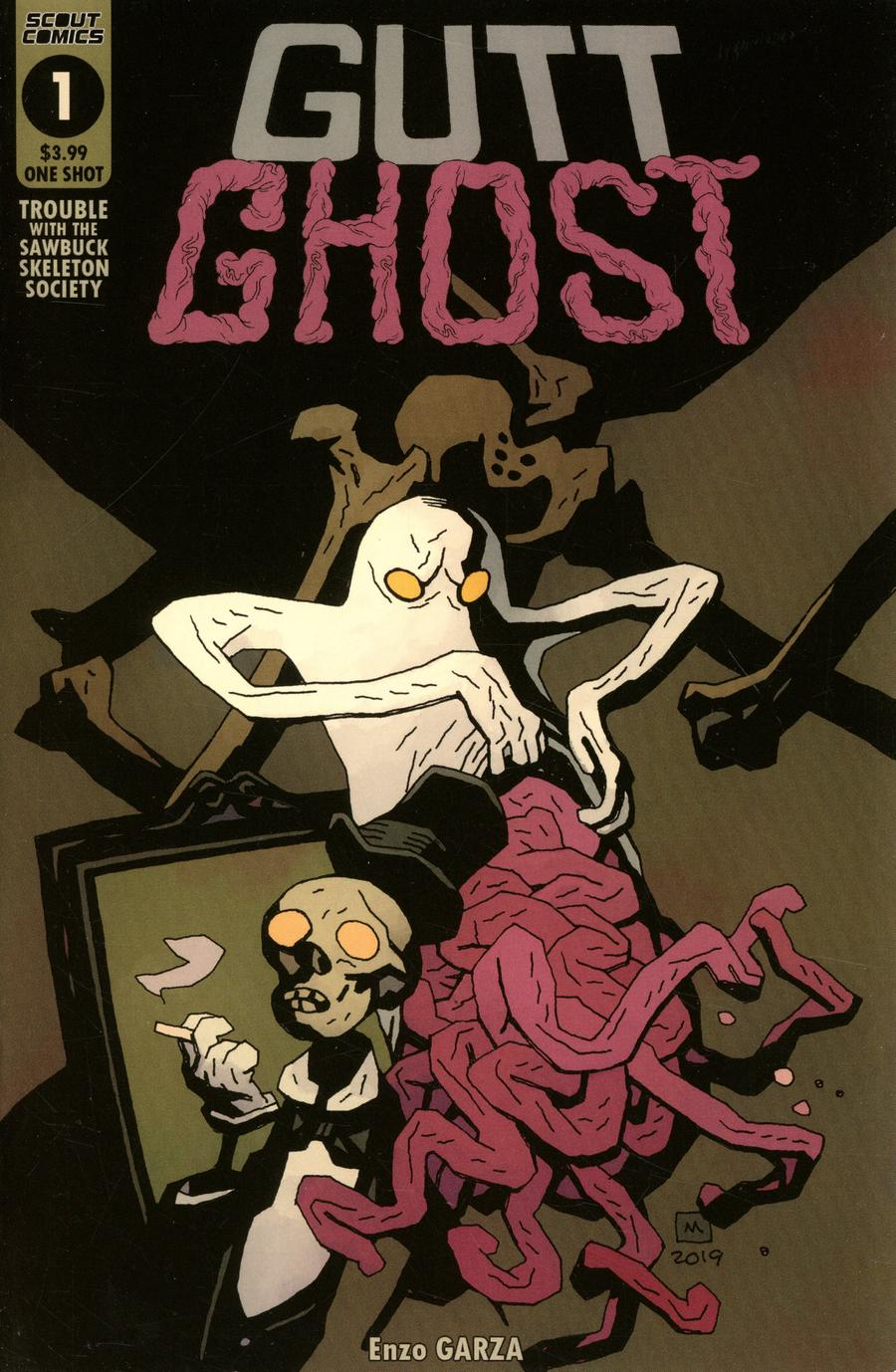 Gutt Ghost Trouble With The Sawbuck Skeleton Society One Shot Cover A Regular Mike Mignola Cover
