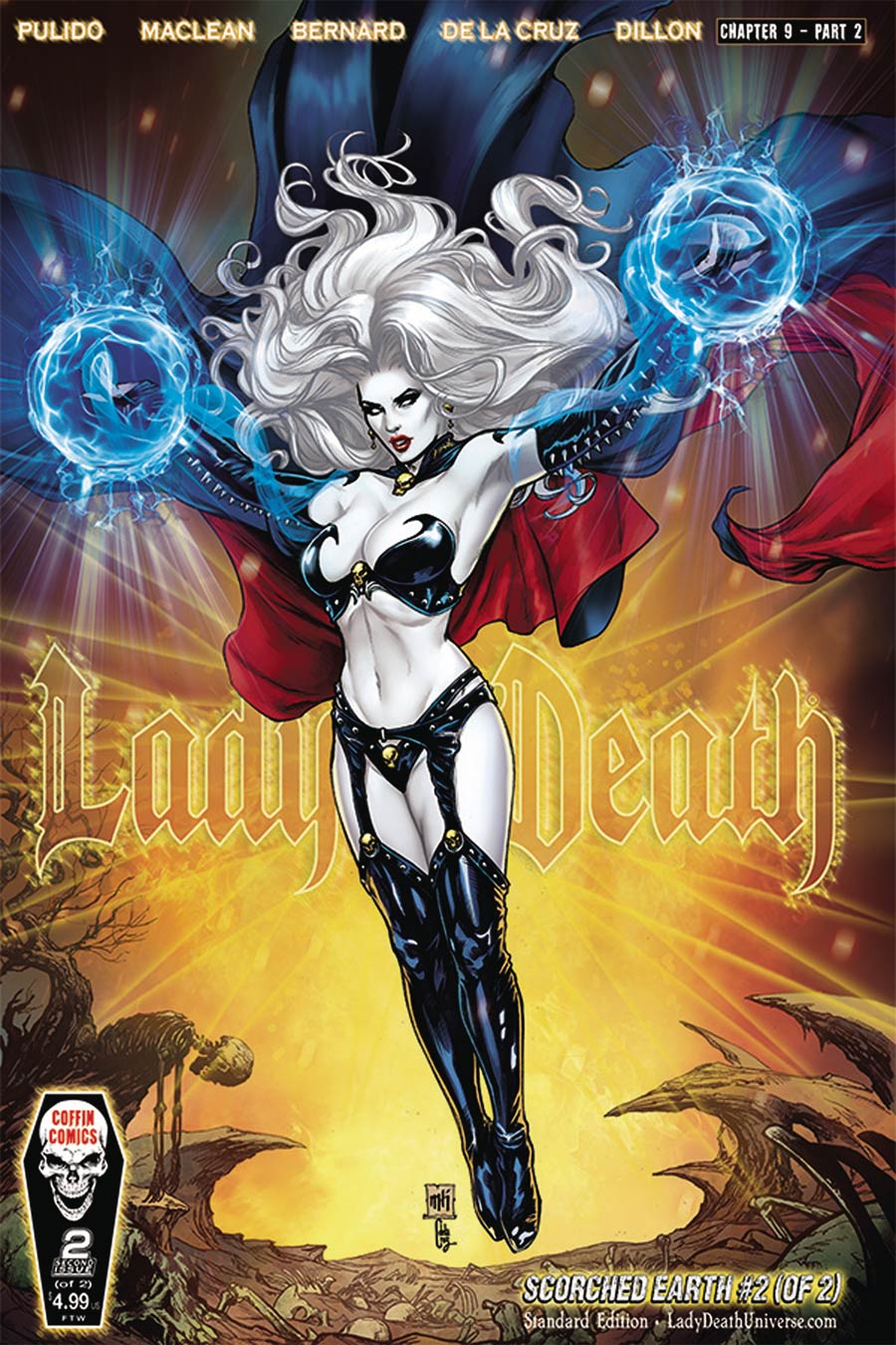 Lady Death Scorched Earth #2 Cover A Regular Mike Krome Cover