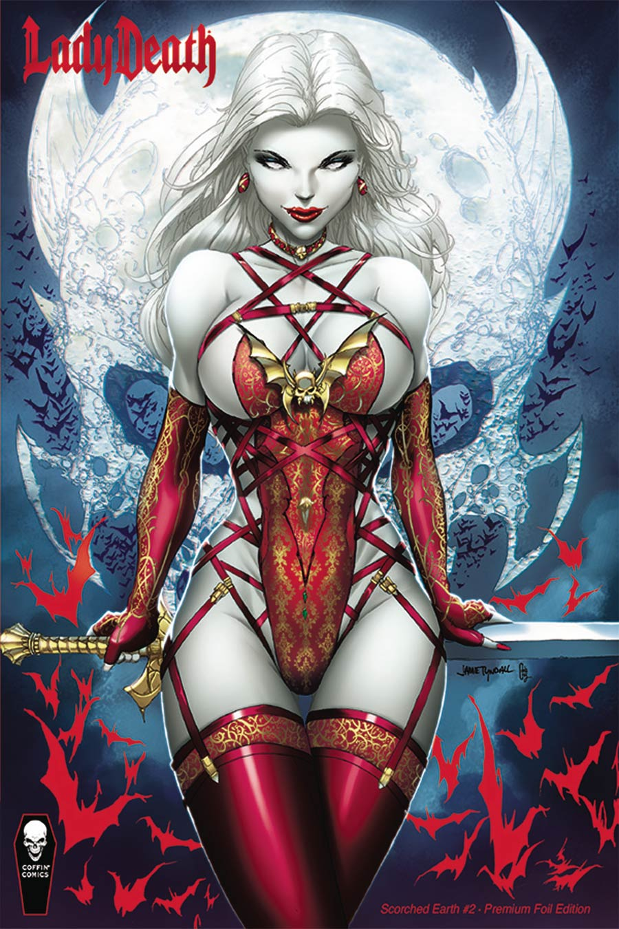 Lady Death Scorched Earth #2 Cover C Variant Jamie Tyndall Premium Foil Cover