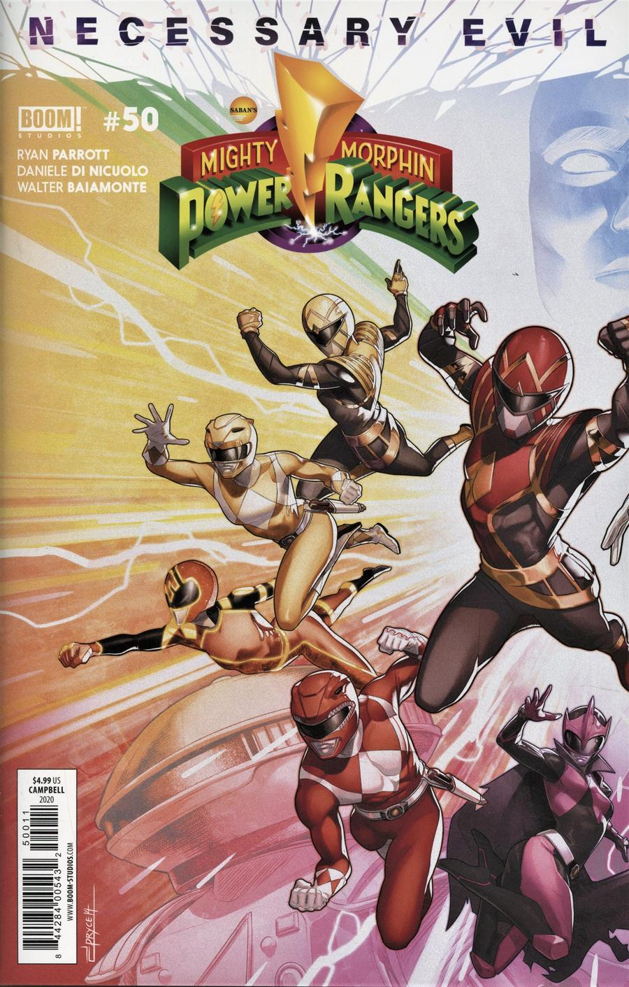 Mighty Morphin Power Rangers (BOOM Studios) #50 Cover A 1st Ptg Regular Jamal Campbell Connecting Left Side Cover