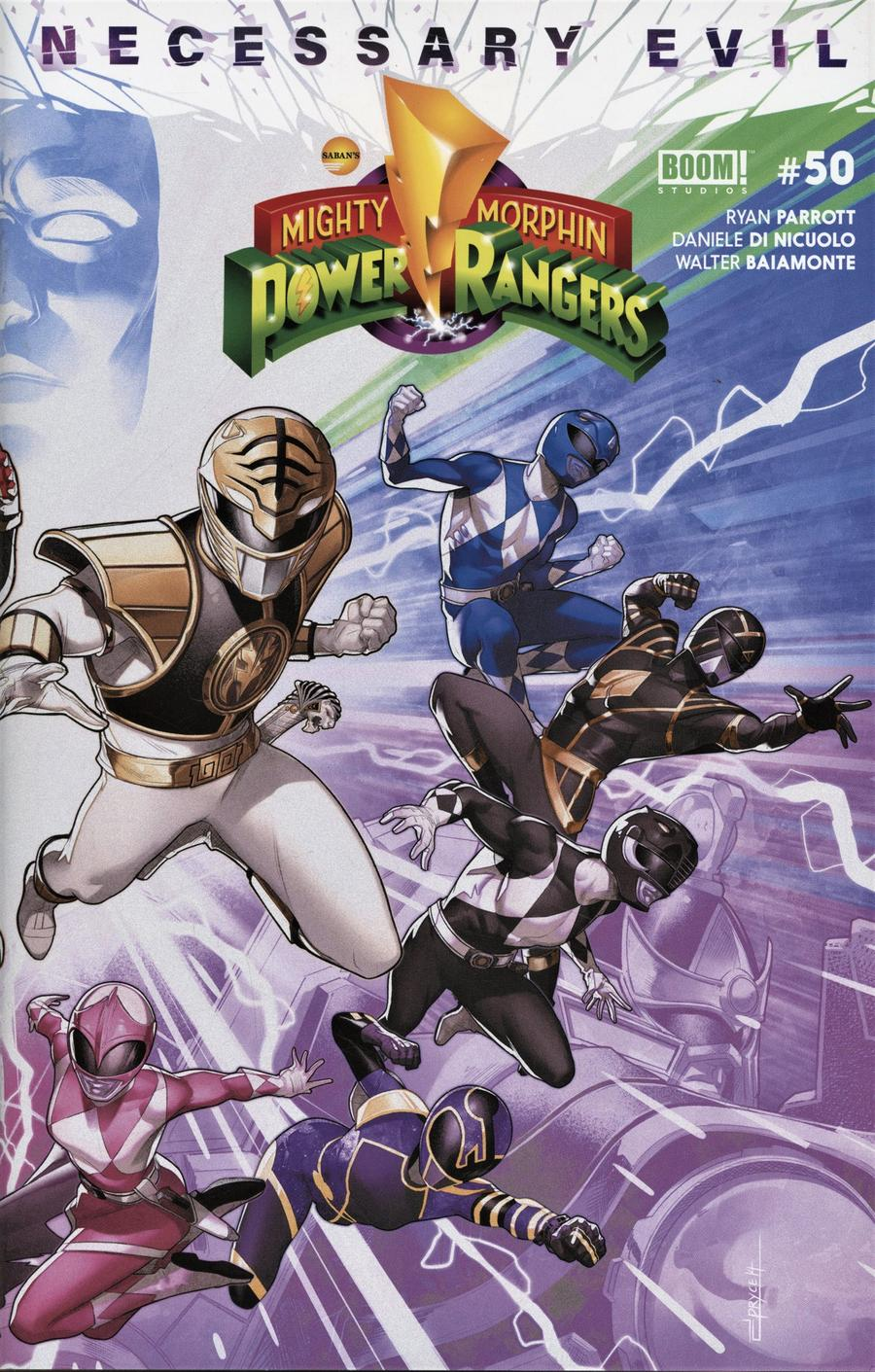 Mighty Morphin Power Rangers (BOOM Studios) #50 Cover B Variant Jamal Campbell Connecting Right Side Cover