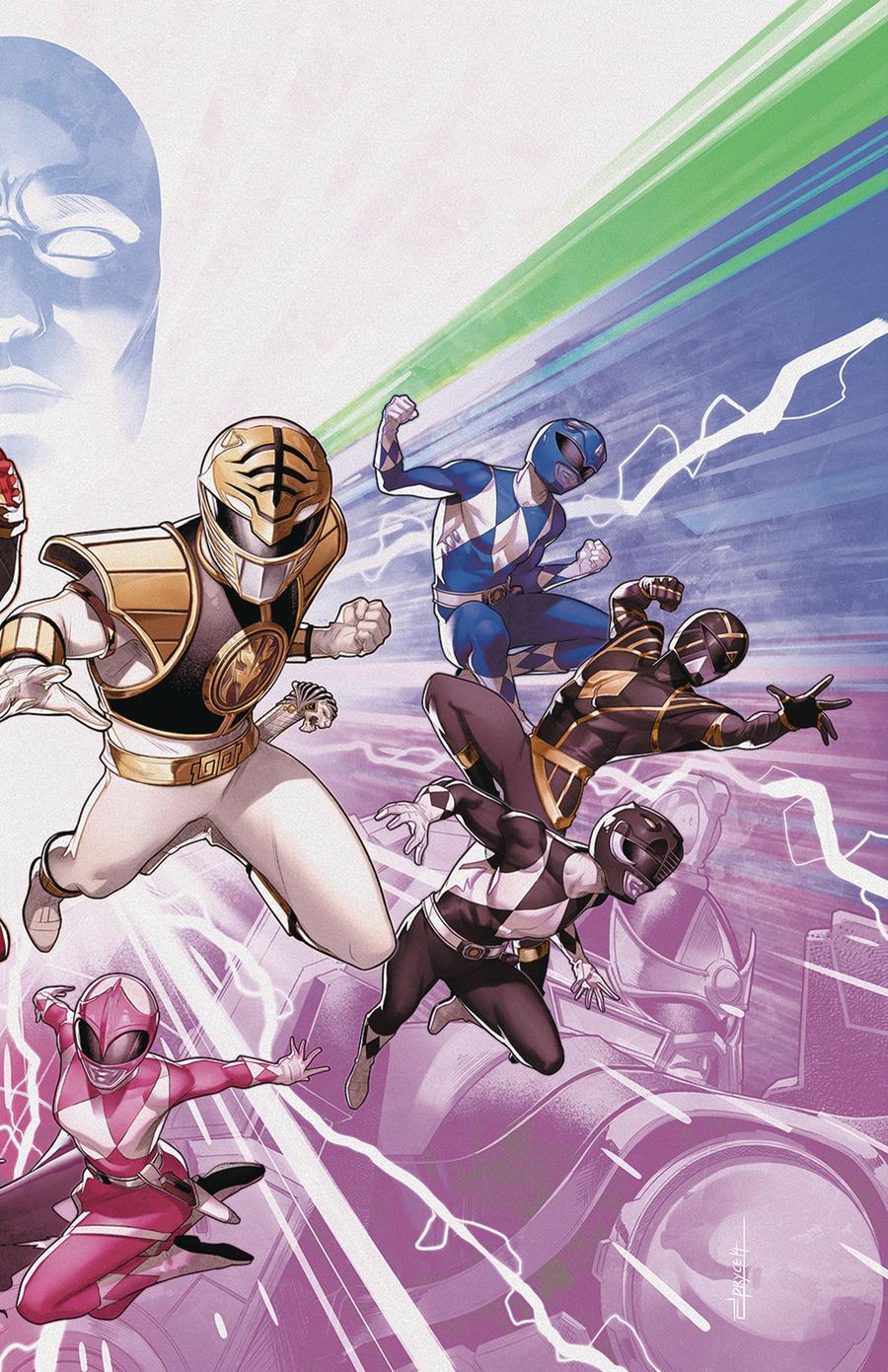 Mighty Morphin Power Rangers (BOOM Studios) #50 Cover C Variant Jamal Campbell Wraparound Foil Cover