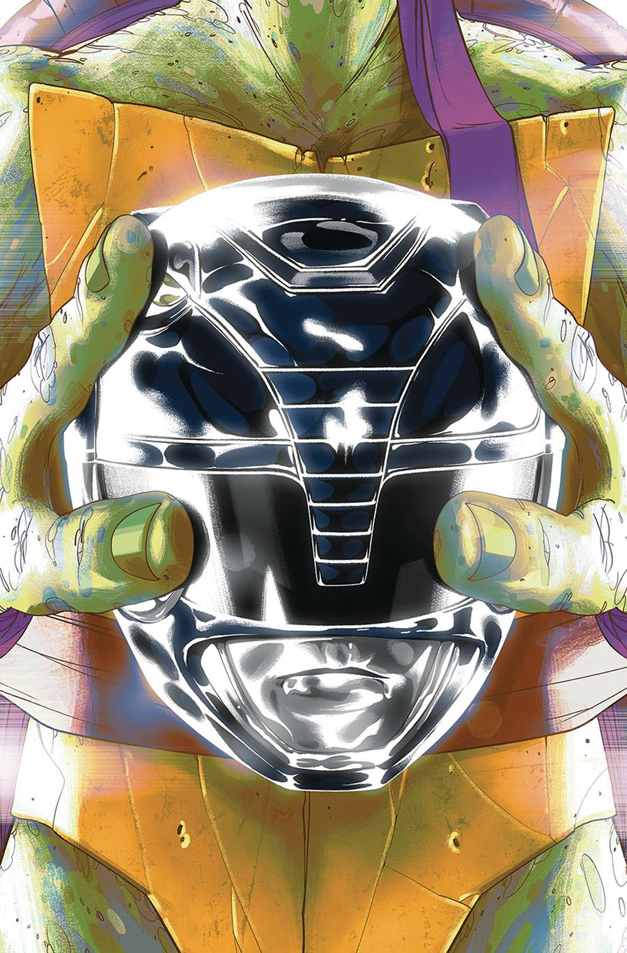 Mighty Morphin Power Rangers Teenage Mutant Ninja Turtles #5 Cover E Variant Goni Montes Donatello Cover