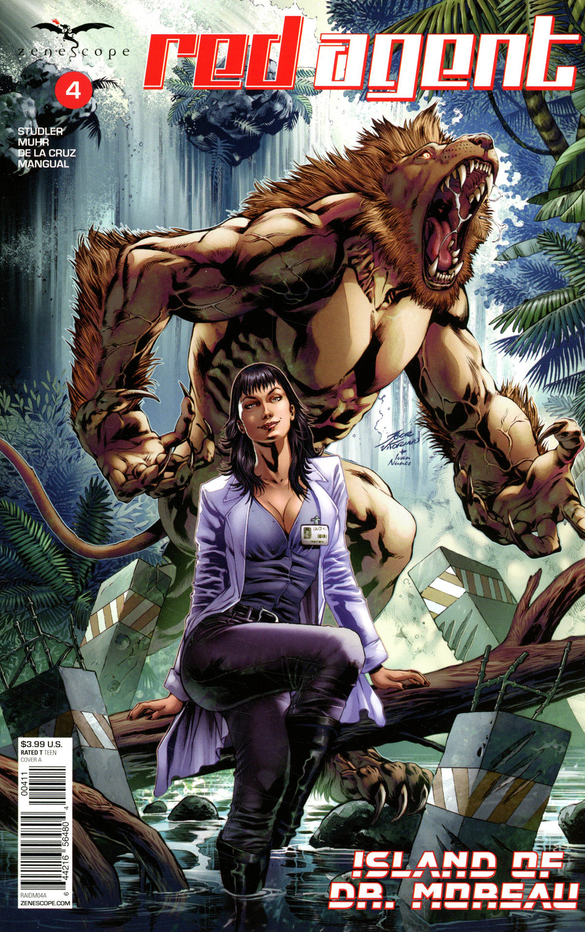 Grimm Fairy Tales Presents Red Agent Island Of Dr Moreau #4 Cover A Igor Vitorino