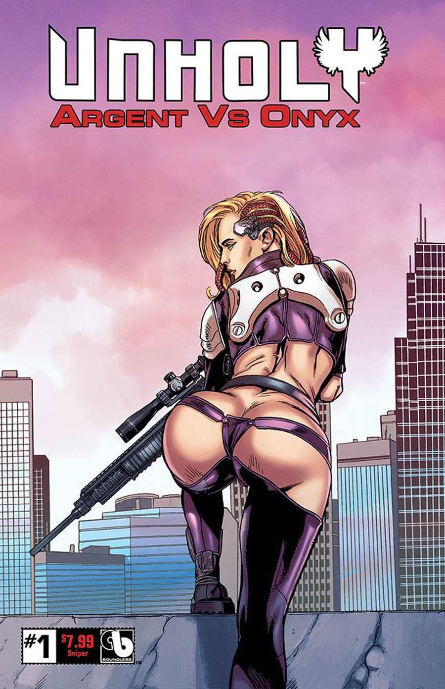 Unholy Argent vs Onyx #1 Cover Z-D Sniper Cover