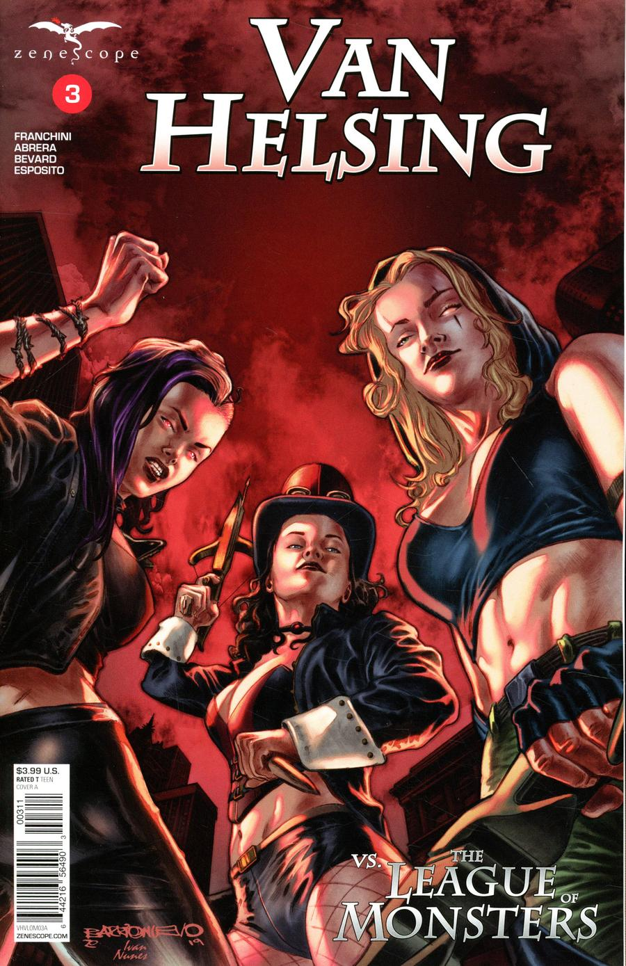 Grimm Fairy Tales Presents Van Helsing vs The League Of Monsters #3 Cover A Al Barrionuevo