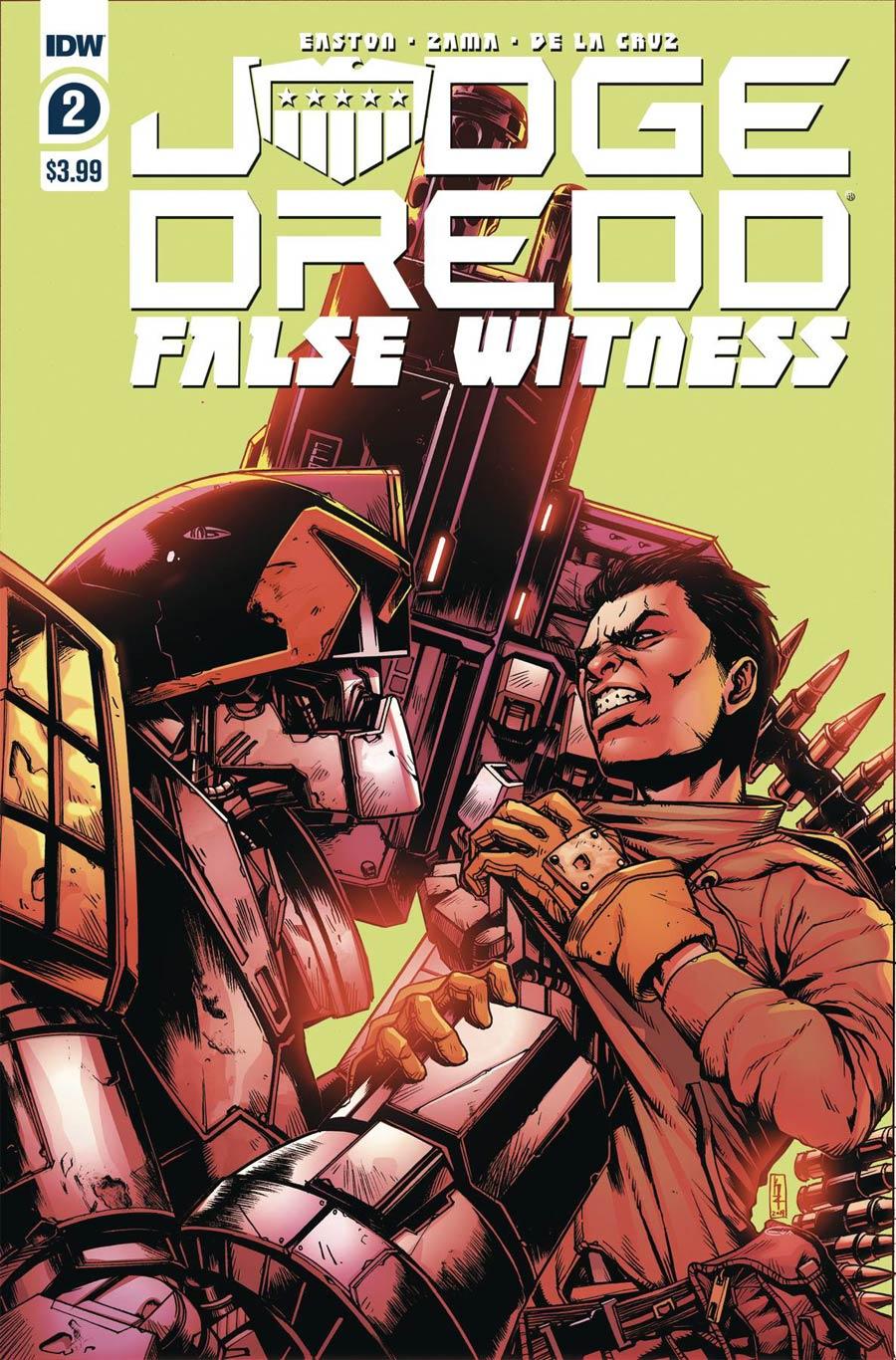 Judge Dredd False Witness #2 Cover A Regular Kei Zama Cover
