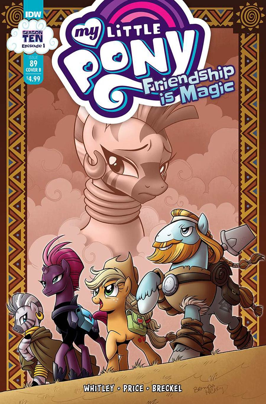 My Little Pony Friendship Is Magic #89 Cover B Variant Brenda Hickey Cover