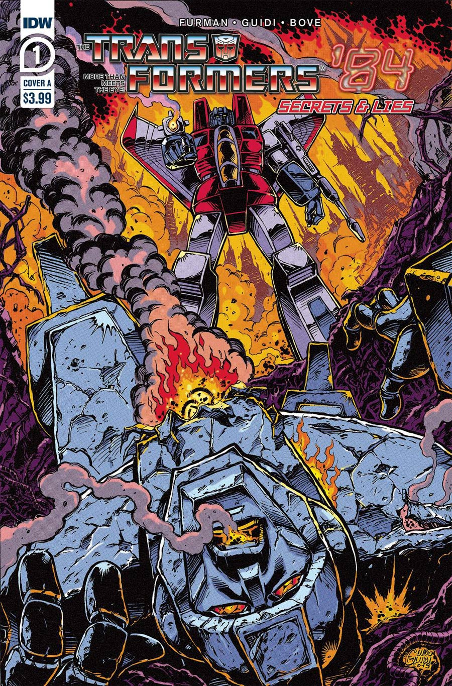 Transformers 84 Secrets And Lies #1 Cover A Regular Guido Guidi Cover