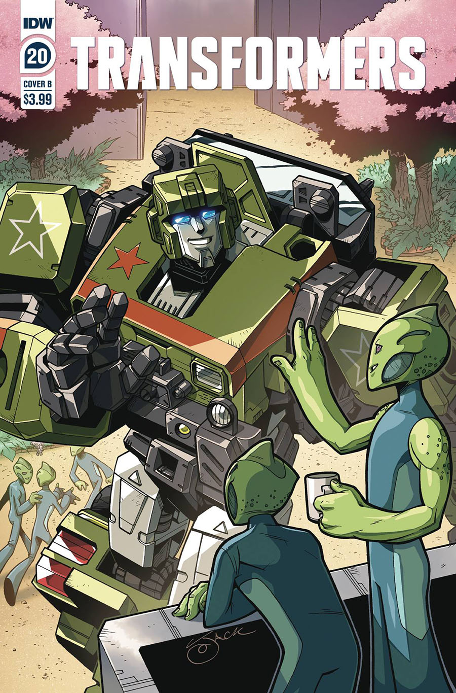 Transformers Vol 4 #20 Cover B Variant Jack Lawrence Cover