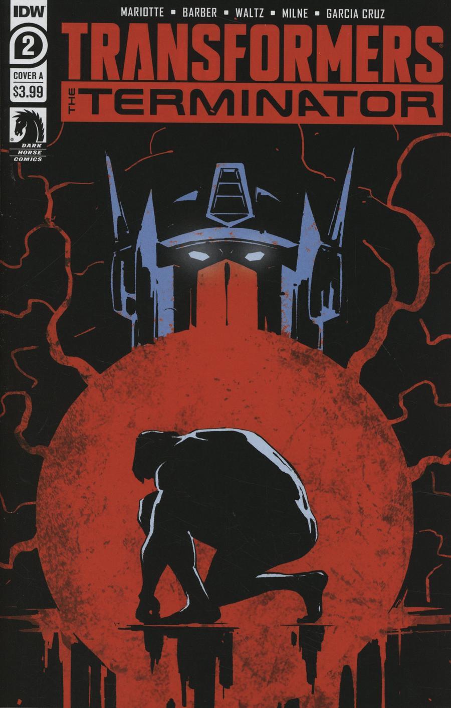 Transformers vs Terminator #2 Cover A Regular Gavin Fullerton Cover