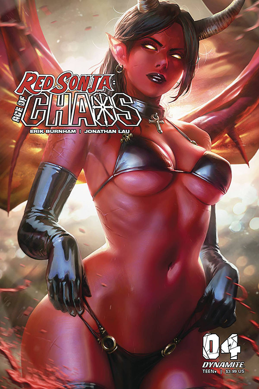 Red Sonja Age Of Chaos #4 Cover D Variant Derrick Chew Cover