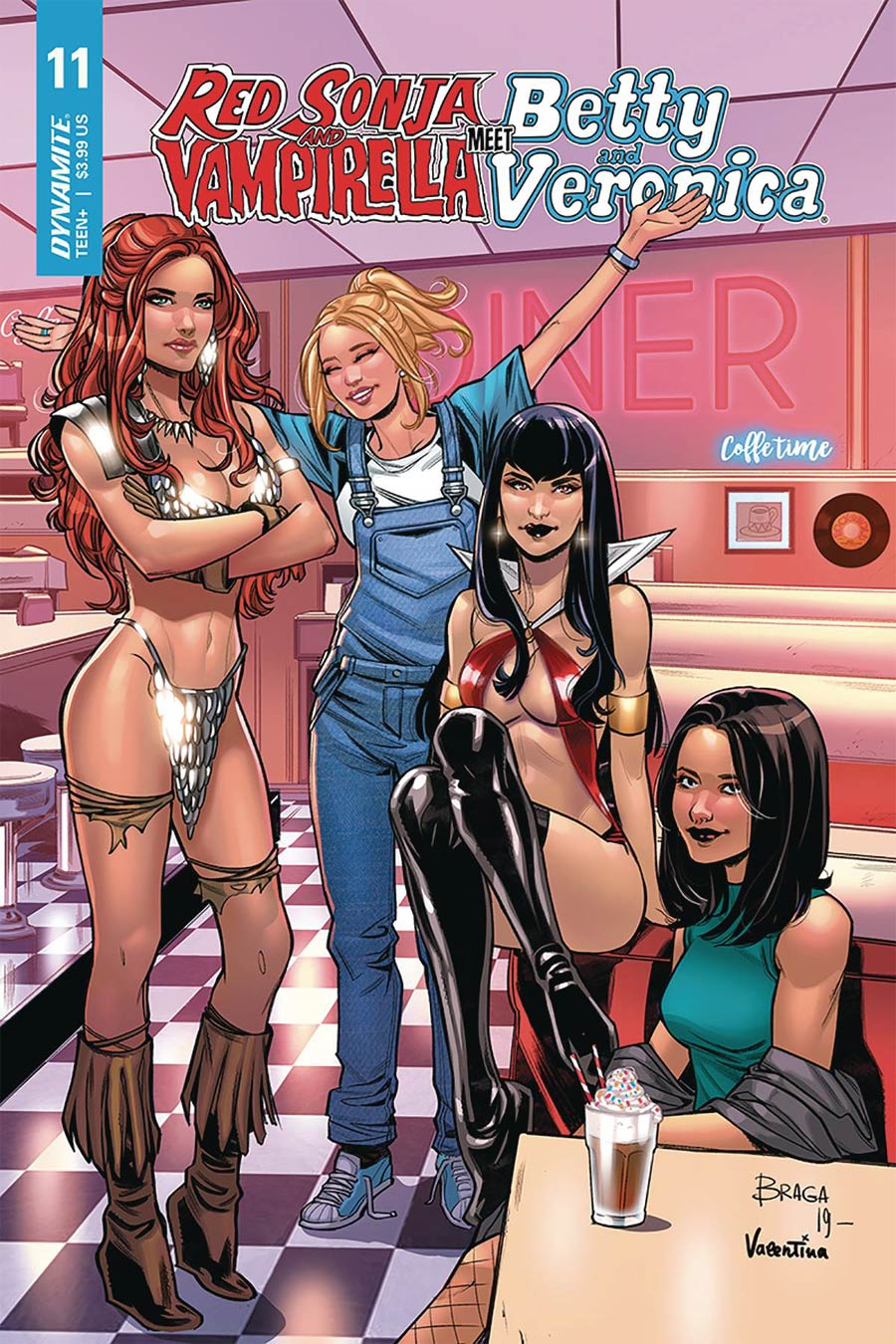Red Sonja And Vampirella Meet Betty And Veronica #11 Cover C Variant Laura Braga Cover