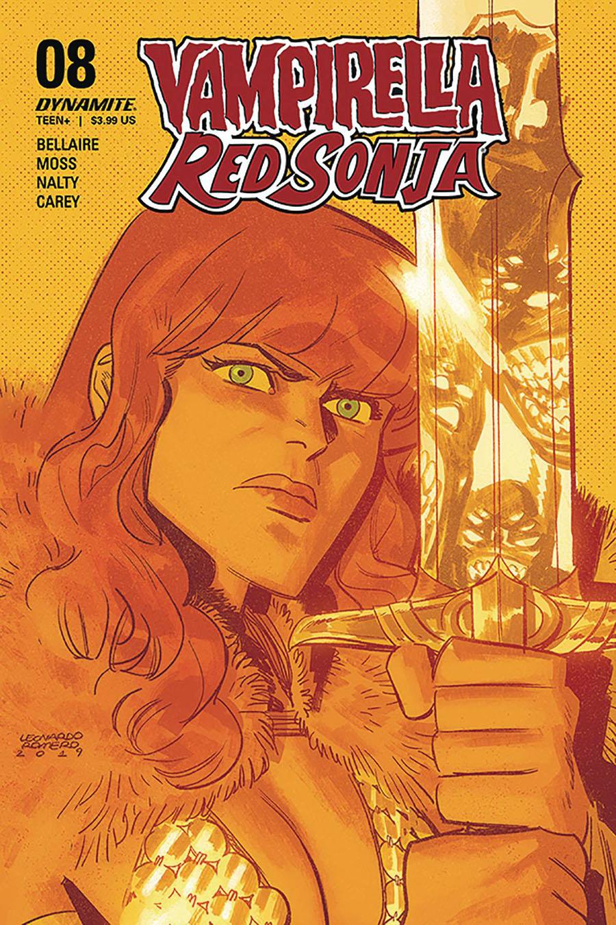 Vampirella Red Sonja #8 Cover C Variant Leonardo Romero Cover