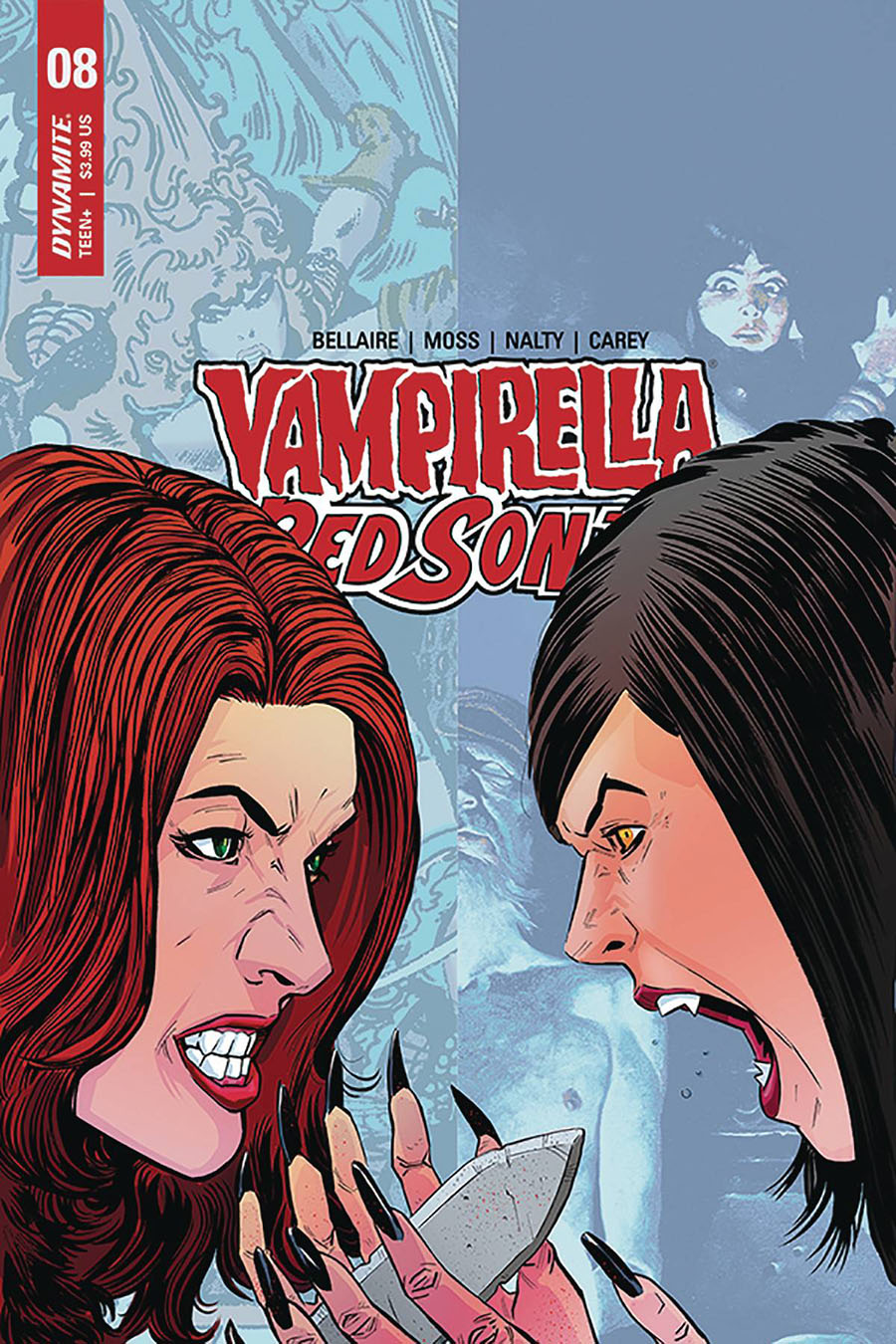 Vampirella Red Sonja #8 Cover E Variant Drew Moss Then And Now Cover