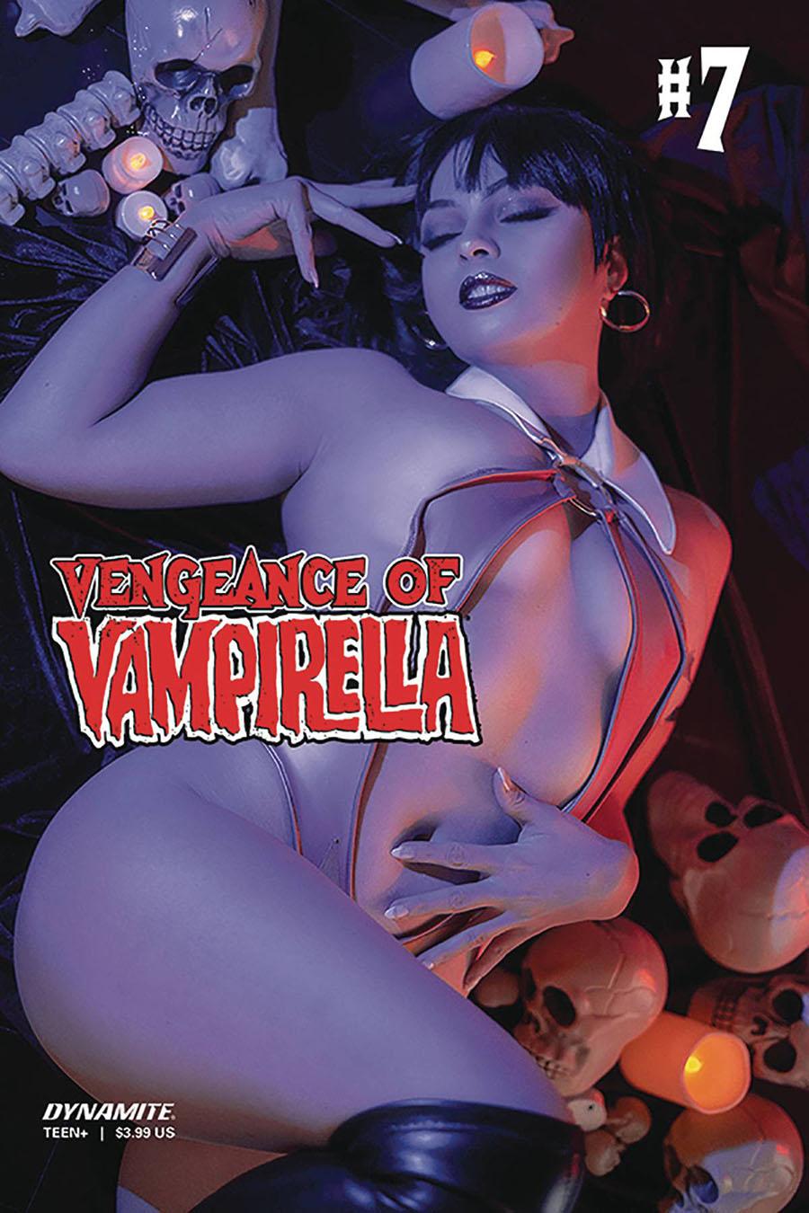 Vengeance Of Vampirella Vol 2 #7 Cover D Variant Allyson Ochs Cosplay Photo Cover