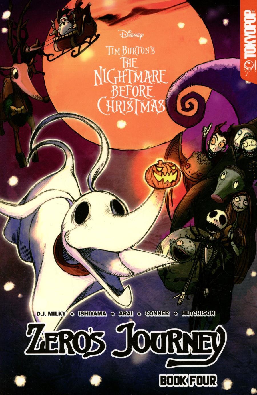 Disney Manga Tim Burtons Nightmare Before Christmas Zeros Journey Vol 4 GN