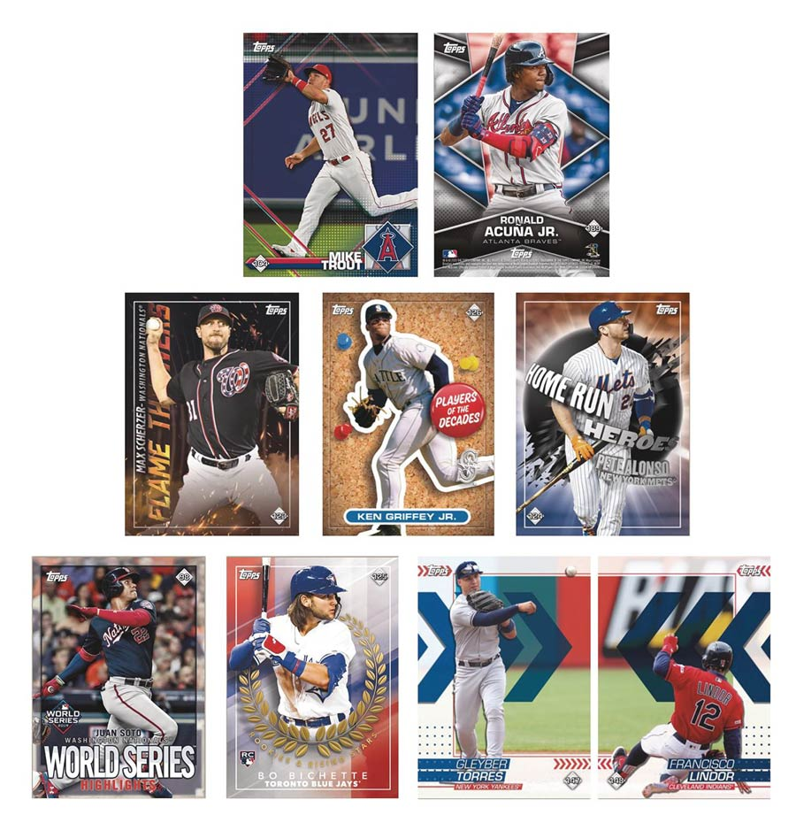 Topps 2020 Baseball Sticker Collection Album Display