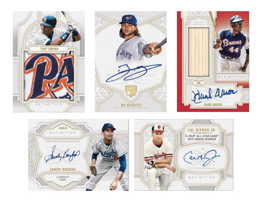 Topps 2020 Definitive Collection Baseball Trading Cards Box