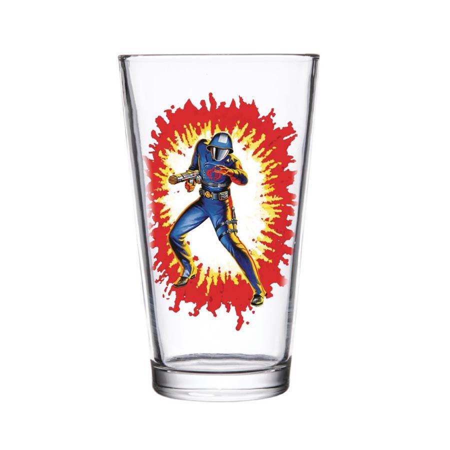 Super 7 GI Joe Pint Glass - Cobra Commander