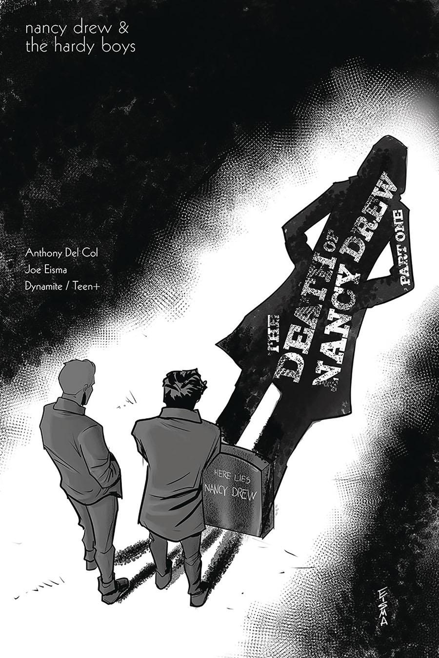 Nancy Drew And The Hardy Boys Death Of Nancy Drew #1 Cover B Incentive Joe Eisma Black & White Cover