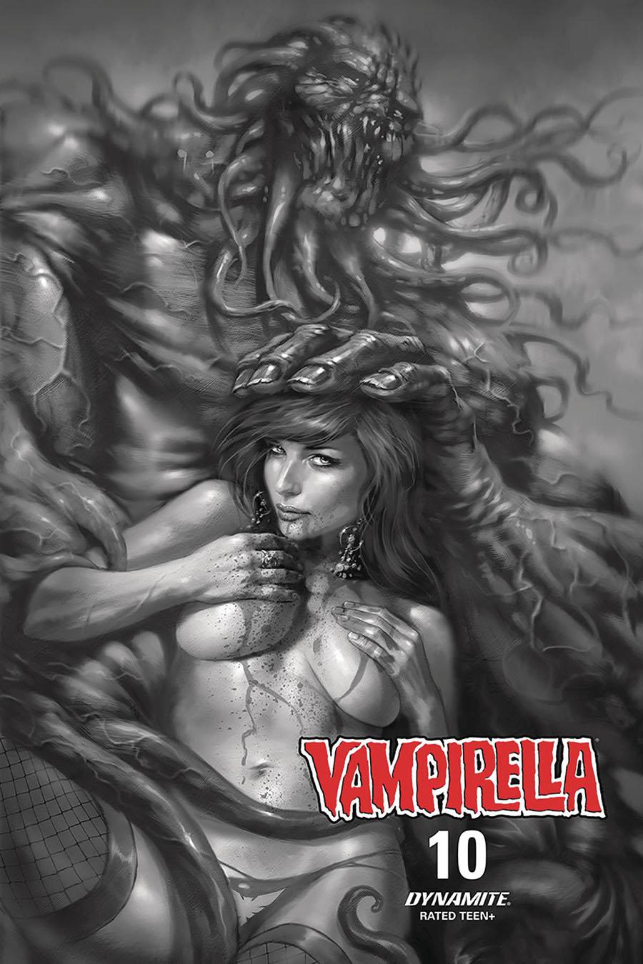 Vampirella Vol 8 #10 Cover J Incentive Lucio Parrillo Black & White Cover