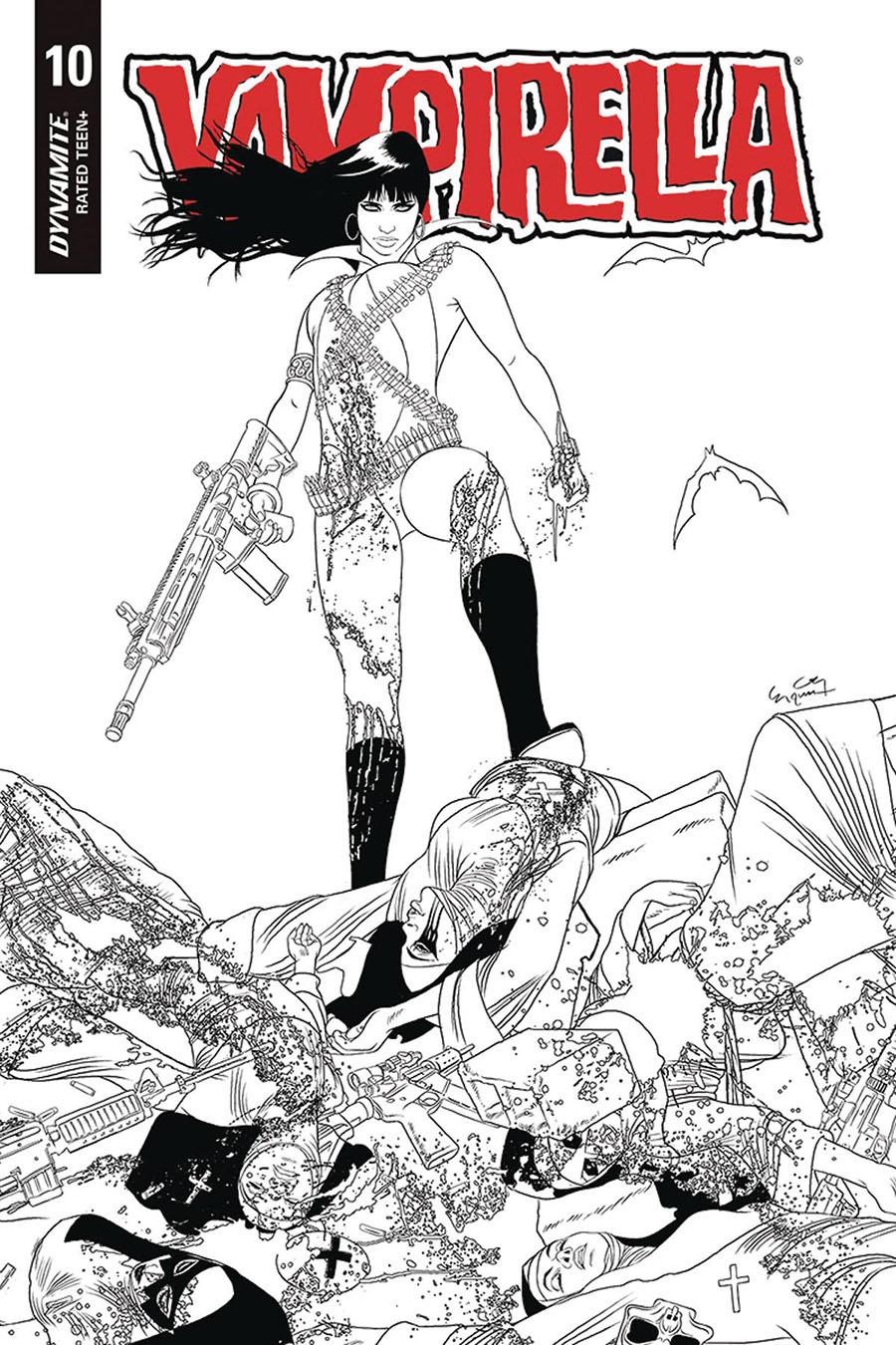 Vampirella Vol 8 #10 Cover M Incentive Ergun Gunduz Black & White Cover
