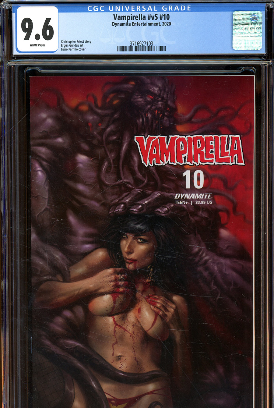 Vampirella Vol 8 #10 Cover X Regular Lucio Parrillo Cover CGC Graded
