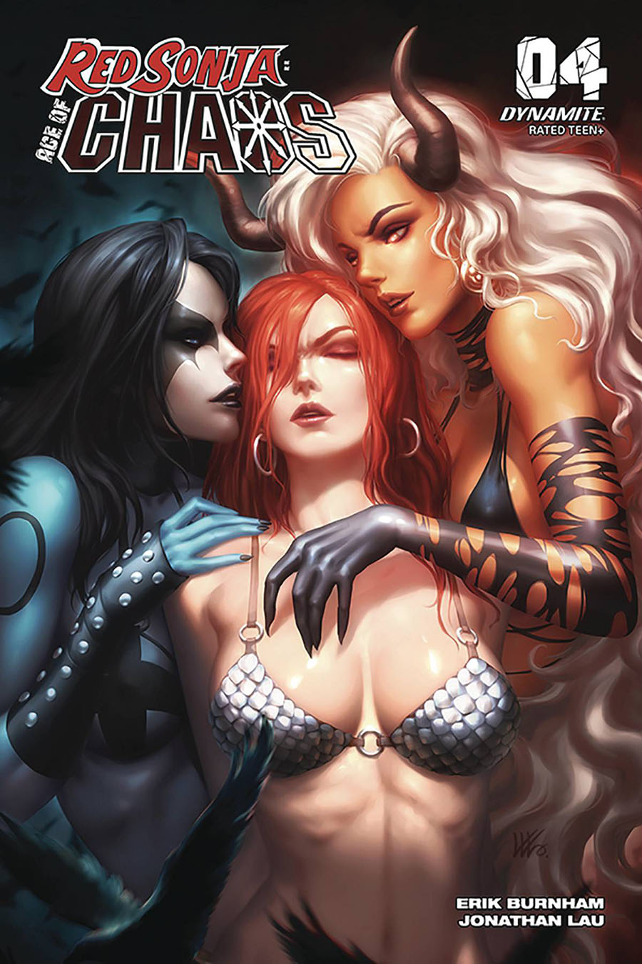 Red Sonja Age Of Chaos #4 Cover J Incentive Kunkka Variant Cover