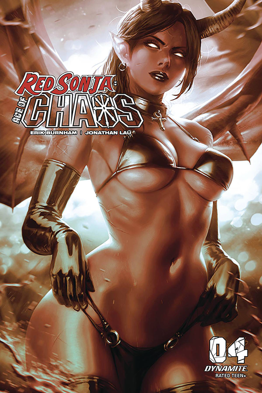 Red Sonja Age Of Chaos #4 Cover M Incentive Derrick Chew Monochromatic Cover