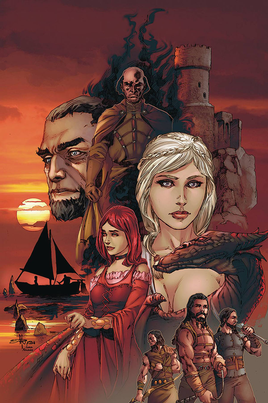Game Of Thrones Clash Of Kings Vol 2 #4 Cover C Incentive Mel Rubi Virgin Cover