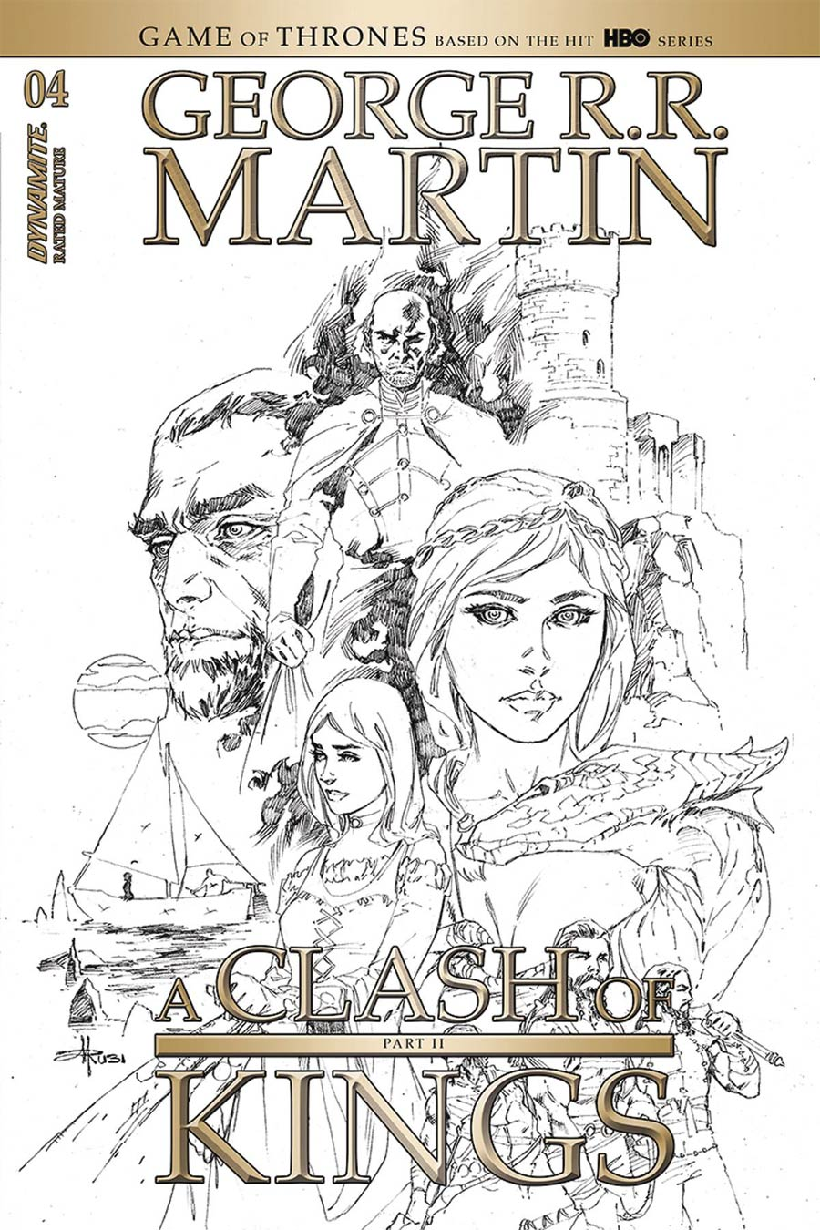 Game Of Thrones Clash Of Kings Vol 2 #4 Cover D Incentive Mel Rubi Black & White Cover