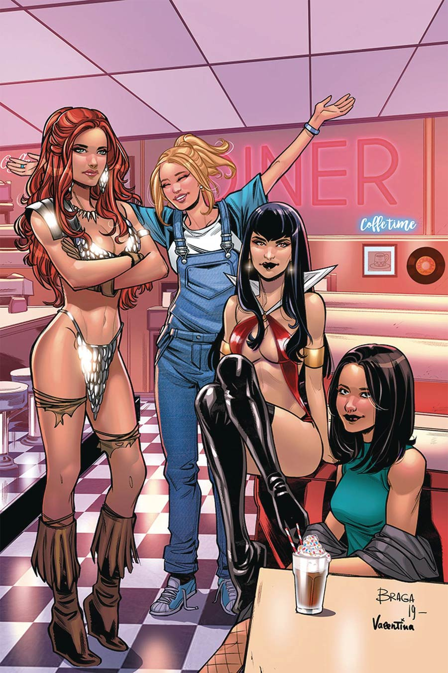 Red Sonja And Vampirella Meet Betty And Veronica #11 Cover L Incentive Laura Braga Virgin Cover