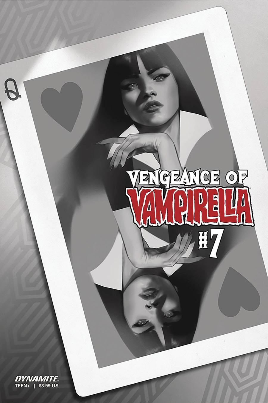 Vengeance Of Vampirella Vol 2 #7 Cover M Incentive Ben Oliver Black & White Cover