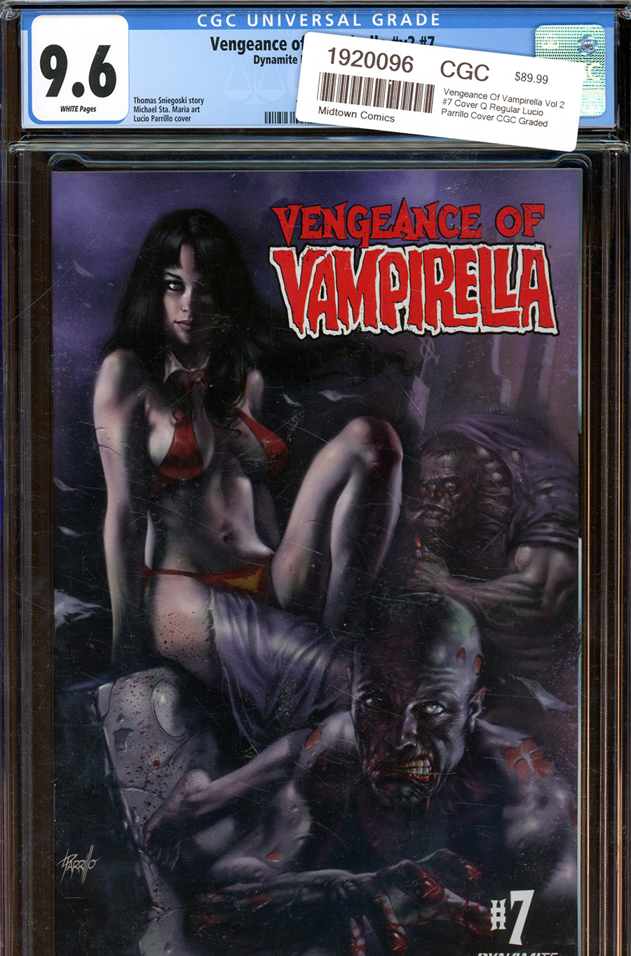 Vengeance Of Vampirella Vol 2 #7 Cover Q Regular Lucio Parrillo Cover CGC Graded