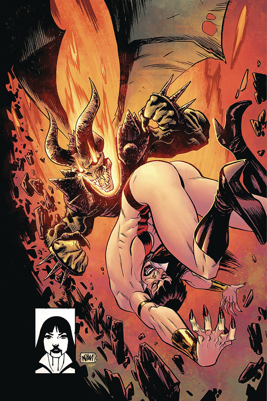 Vampirella Vol 8 #10 Cover W Limited Edition Adam Gorham Todd McFarlane Homage Virgin Cover