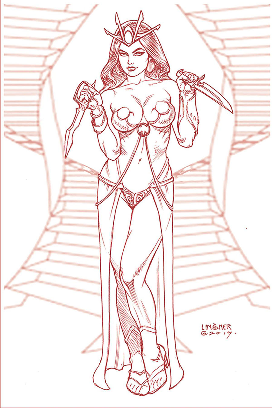 Dejah Thoris Vol 3 #5 Cover V Rare Limited Joseph Michael Linsner Martian Red Cover