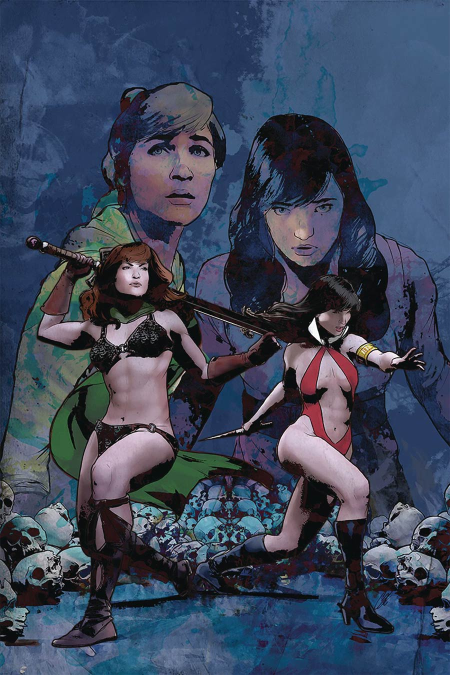 Red Sonja And Vampirella Meet Betty And Veronica #11 Cover O Limited Edition Cat Staggs Virgin Cover
